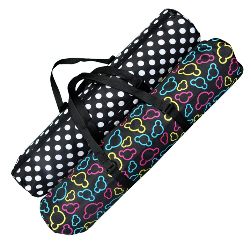 1pcs PVC Black Portable Yoga Mat Bag Nylon Carrier Mesh Adjustable Strap Sport Mat Case Bag