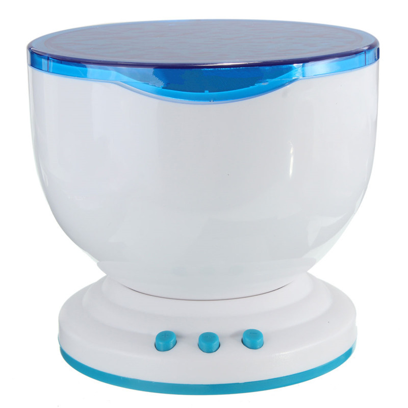 Ocean Sea LED Blue Night Light Projector Luminary Novelty Lamp USB Lamp Nightlight Speaker For Baby Children Bedroom браслет тигровый глаз 18 см биж сплав