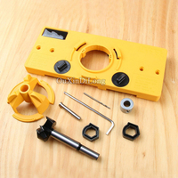 Brand New 1Set Hinge Drill Guide 35MM Cup Style Concealed Hinge Jig Woodworking Carpenter DIY Tools