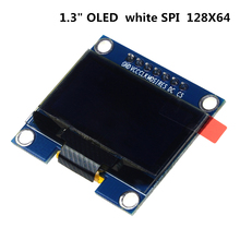 Buy online 1.3 inch 128X64 OLED display module white 7 Pins SPI interface DIY oled display compatible for Arduino