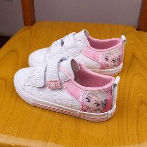Image 4 - ディズニー冷凍子供ピンクカジュアルシューズ女の子2108エルザとアンナ王女なし靴紐puスポーツ靴ヨーロッパサイズ25 36