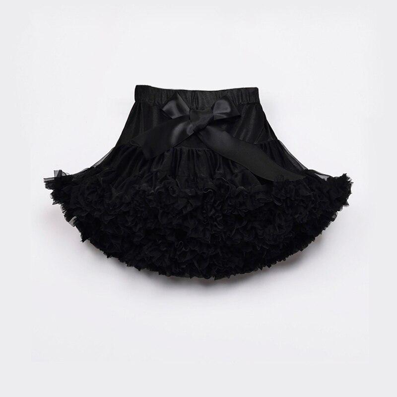 Черная юбка-американка плиссированная юбка-пачка для маленьких девочек танцевальная праздничная одежда детская одежда для мамы и дочки