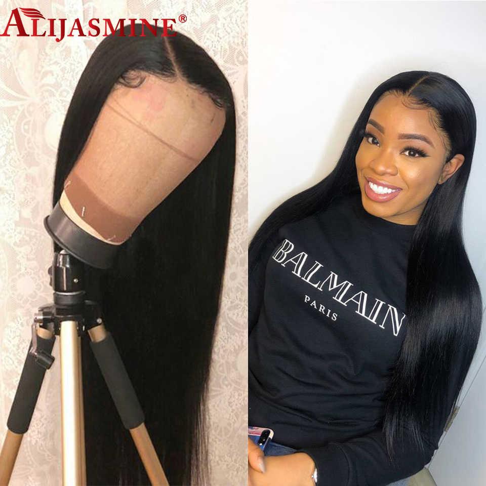 150% 13x6 глубокий парик фронта шнурка Remy Glueless 360 человеческих волос парики предварительно сорвал перуанские прямые волосы парик для женщин