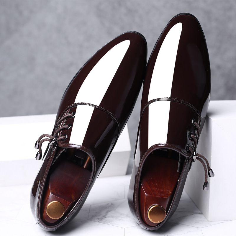 2019 New Men 39 s Authentic Oxford Shoes Fashion Pointed Bright Leather Men 39 s Office Casual Soft Shoes Trend Business Men 39 s Shoes in Men 39 s Casual Shoes from Shoes