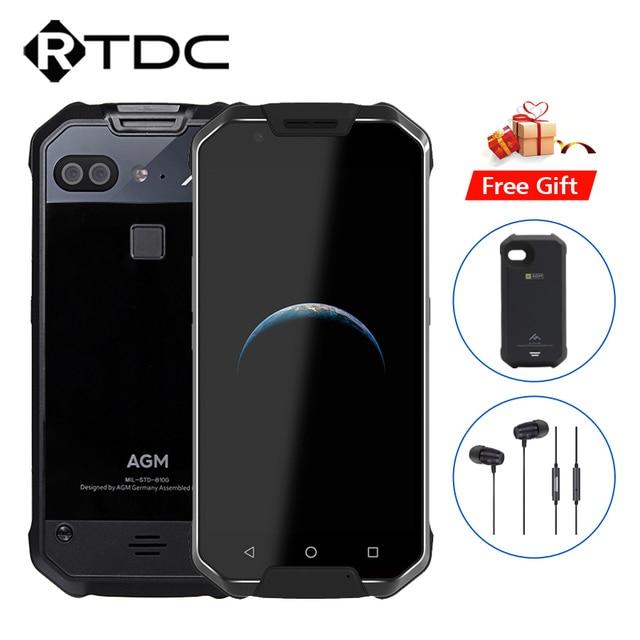 """Оригинал AGM X2 IP68 Водонепроницаемый Мобильный телефон 5.5 """"FHD 6 ГБ Оперативная память 64/128 ГБ Встроенная память Qualcomm msm8976sg восьмиядерный двойной 12MP Cam 6000 мАч NFC"""