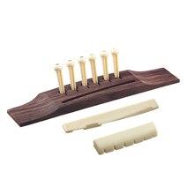 SEWS-6 штук штифты/седло/гайка Абалон точки для акустической гитары-красный+ красновато-коричневый