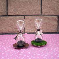 Decoración de escritorio awaglass mano-soplado Timer imán reloj magnético reloj de arena ampulheta artesanía arena reloj temporizador Navidad