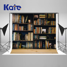 Kate 10x10ft Retro School Library Study Bookshelf Scene Children Photography Background Photographic Backdrops For Photo Studio 100% hand painted pro dyed muslin backdrops for photography studio customized photographic background wedding backdrops 10x10ft