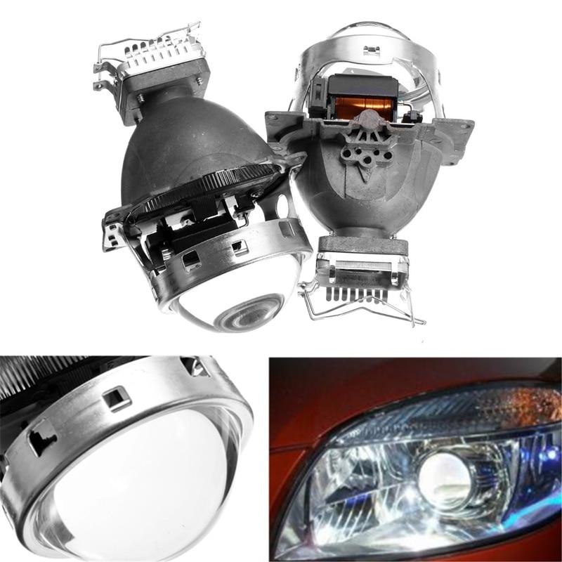 ФОТО Brand New Car Styling 3.0 Inch 12V D2S Angel Eye Q5 For HID BI-Xenon Projector Lens Headlight Kit LHD RHD