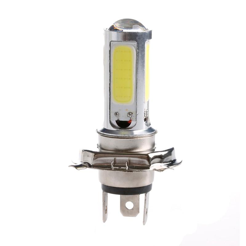 DC 12V Signal Lamp White Light H4 COB 51 LED 25W Motor Indicator Bulb Car Light Source Lamp