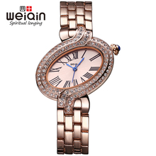 WEIQIN Luxury Women Watches Waterproof Quartz Watch Women Unique Design Fashion Casual Rhinestone Lady Clock Relogio Feminino