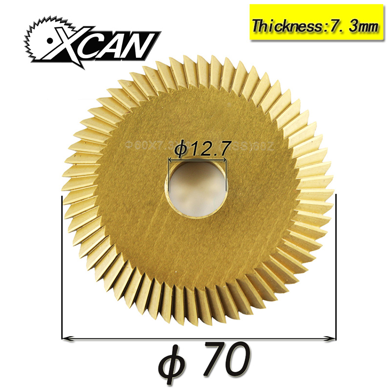 Key Cutting Machine Blade 100 Tooth For Wenxing 268A Power Tools Single Side Circular Saw Blade Titanium 70*12.7*7.3mm