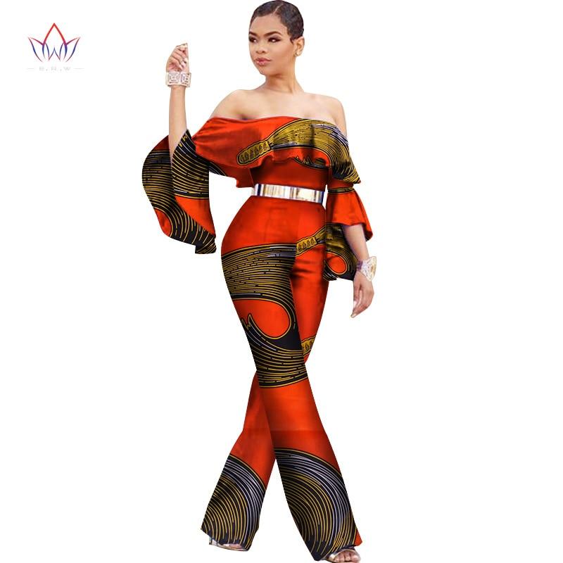 New arriving Africa Cotton Wax Print Romper African Bazin Riche Sexy Jumpsuit For Women Dashiki Elegant Jumpsuit WY2590