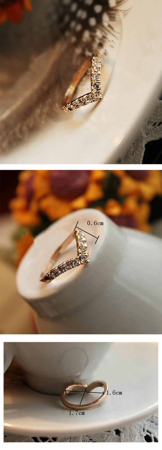 Lover Hot Sell Elegant Gold Color Wedding Ring Made with Genuine Austrian Crystals Full Sizes Wholesales 4