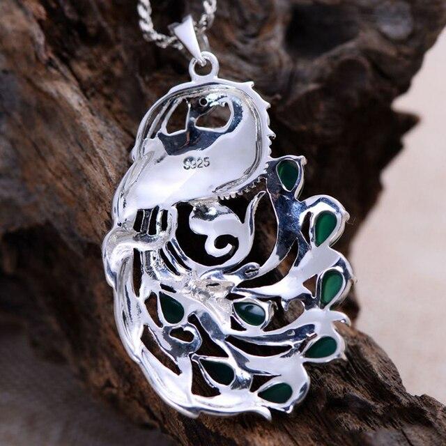 Gemstone Natural Peacock Pendant4