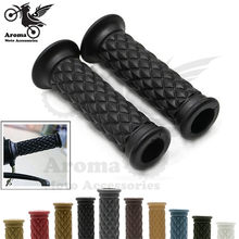 11 colors available hot retro cafe racer parts 22MM 25MM rubber motorbike grip for harley moto handlebar motorcycle handle grips(China)