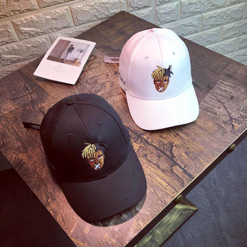 القذرة التطريز رئيس صورة قبّعة بيسبول هيب هوب الرجال والنساء النسخة الكورية من شخصية قبعات زوجين المد النساء قبعة