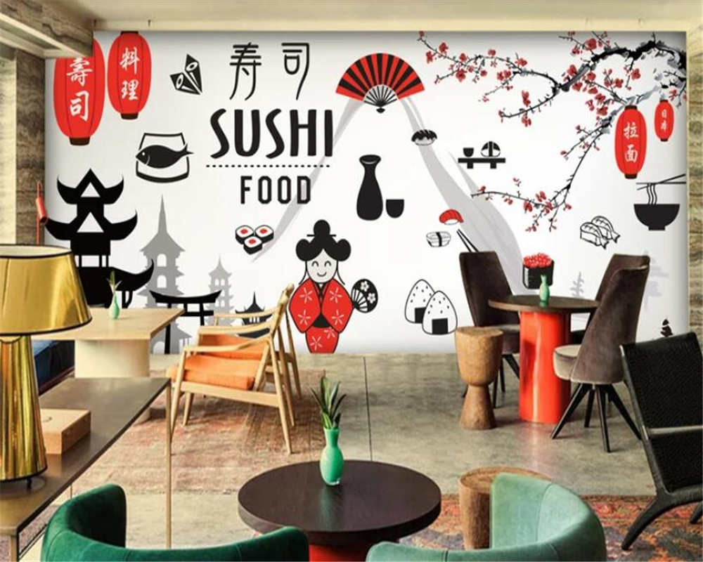 Home Improvement Humble Beibehang Vintage Street Japanese Restaurant Decoration Mural Sushi Shop Background Wall Wallpaper For Kids Room Papel Mural