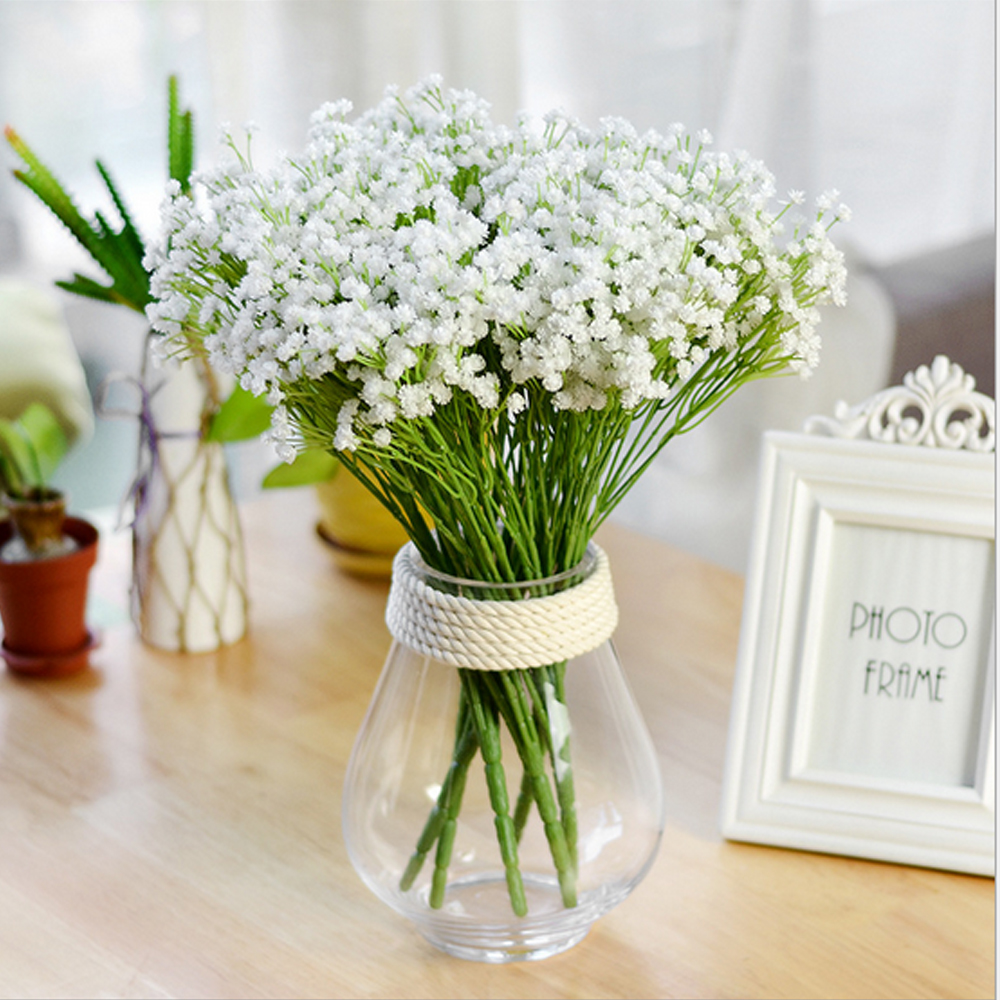 Online shop babys breath gypsophila plastic artificial flowers for online shop babys breath gypsophila plastic artificial flowers for wedding decoration fake flowers bouquets home decor mothers day gifts aliexpress izmirmasajfo