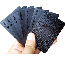 New arrive Novelty Waterproof Black Frosting Plastic PVC Playing Cards Collection Poker Cards Creative Gift Durable Poker