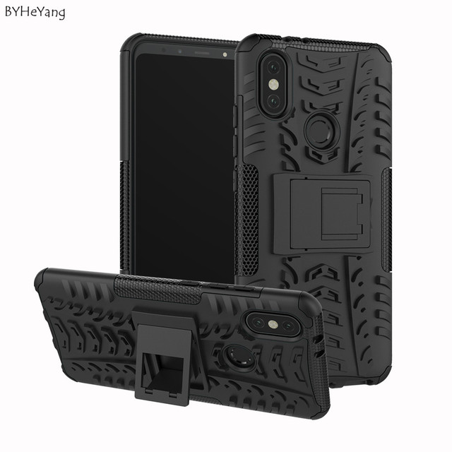 detailed look 6e9fe 0baf8 US $2.68 6% OFF|BYHeYang For Xiaomi Mi A2 Case For Xiaomi 6X Armor Case  Full Protective Hard Phone Back Cover For Xiaomi MiA2 / Mi 6X / Mi6X-in  Fitted ...