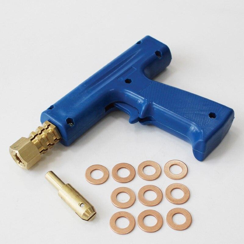 Car spotter body collision repair spot welder dent pulling slide hammer welding gun washers chuck standard studder consumables Сварка