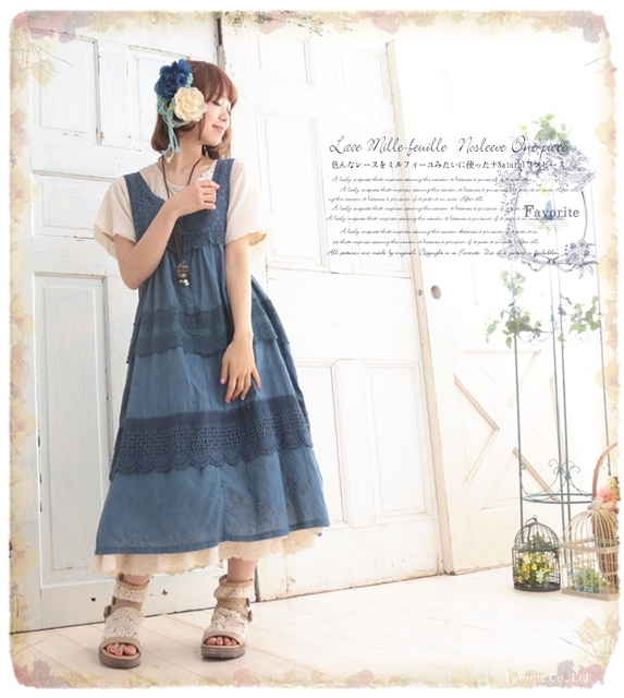 mori girl Japanese style vestido longo harajuku gothic patchwork embroidery  knitted tunique praia lace pin up cd8f86dbc