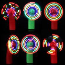 Мини-вентилятор светящаяся игрушка цветной светильник s практичный ручной электрический вентилятор охлаждения 4 цвета меняющийся светодиодный светильник реквизит для концерта игрушки