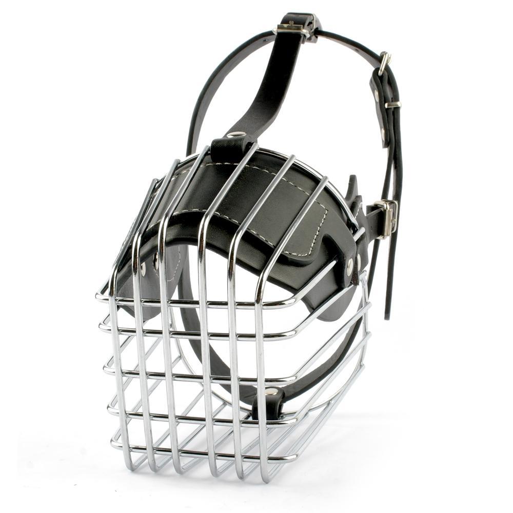Strong Metal Wire Basket Dog Muzzle Anti Bite Bark Pet Muzzles ...