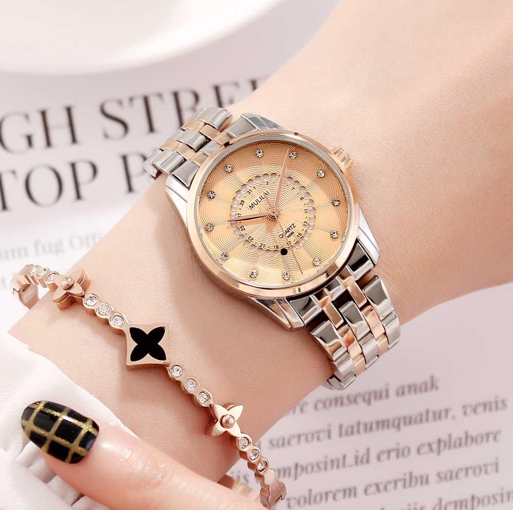 Luxury Watch Quartz Women Watches Ladies Waterproof Steel Women's Bracelet Watches Female Clock Relogio Feminino Montre Femme