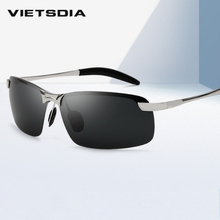 2019 Classic Polarized Sunglasses Men Brand Designer Metal Outdoor Sun Glasses W