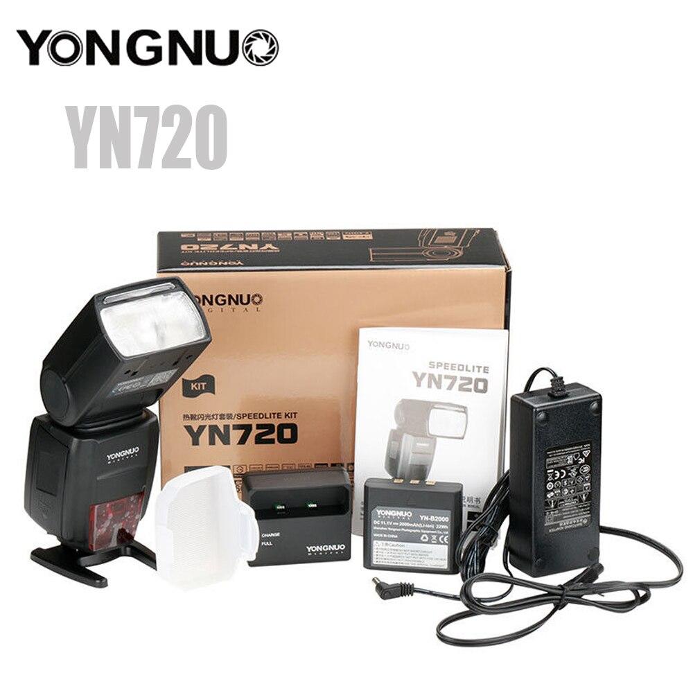 все цены на Yongnuo YN720 Flash Speedlite YN 720 Lithium Flash with 2000mAh battery for Canon Nikon Compatible YN685 YN560 IV YN560-TX RF605 онлайн
