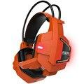 Fantasmas Gaming Headset Headphone Casque Auriculares Estéreo Brilham no escuro áudio para PC Gamer PS4 com Controle de Volume Mic LEVOU luz