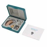 Малый слуховой аппарат звуковой усилитель Слуховой аппарат комплект Регулируемый за ухом усилитель звука уход за ушами для пожилых глухих