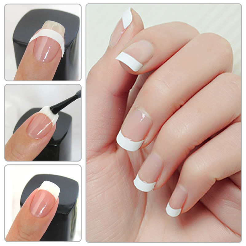 Different Style Nail Art White French Manicure Guide Tips Manicure ...