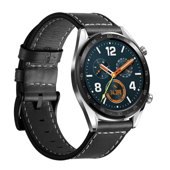New Watchband Genuine Leather Strap For Huawei Watch GT 2 46mm /Huawei Honor Watch Magic Wristband Watch Band