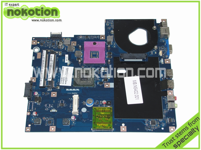 MBN5402001 KAWF0 LA-4851P Laptop Motherboard for Acer E525 E725 5732Z Intel GL40 DDR2 Mainboard