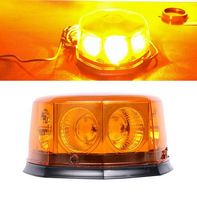 COB 8 LEVOU 12 Modo Intermitente Luzes de Farol de Carro Auto Hazard Emergência atenção Strobe Light w/Base Magnética