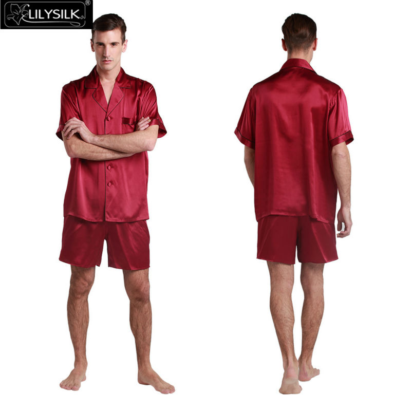 1000-claret-22-momme-contrast-trim-short-silk-pyjamas-set
