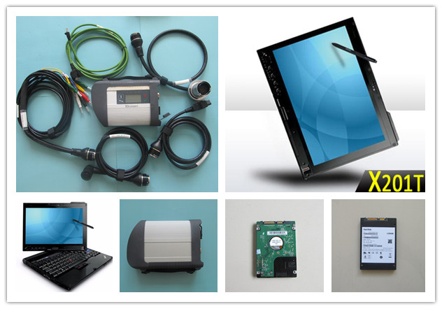 best quality mb star c4 wifi diagnostic tool with hdd newest software installed in laptop x201t i7 4g ready to use