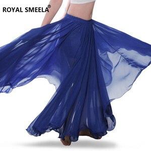 Image 4 - Phụ Nữ Mới Thiết Kế 720 Độ Vẫy Tay Múa Bụng Váy Bellydance Đầm Vũ Vải Thực Hành Mặc Biểu Diễn Múa Bụng Trang Phục