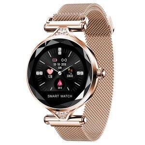 Смарт-браслет OGEDA H1 Gold, модные женские Смарт-часы с Bluetooth, шагомер, пульсометр для Android/IOS