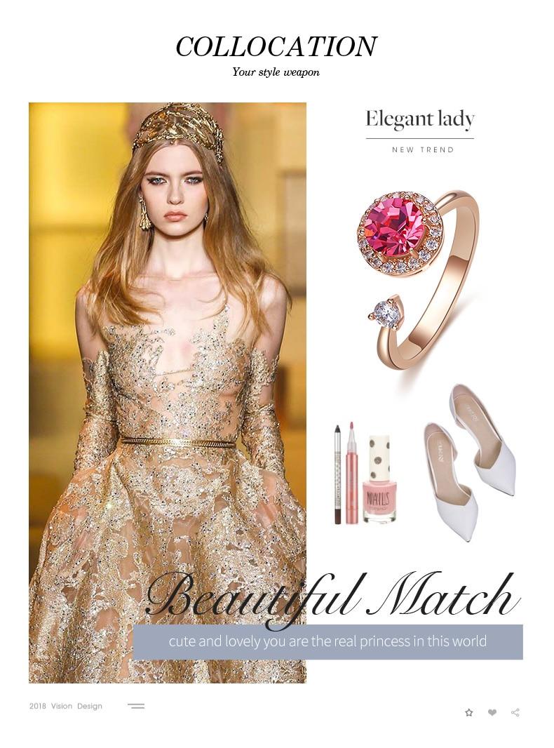 Pink Crystals Rose Gold Ring (5)