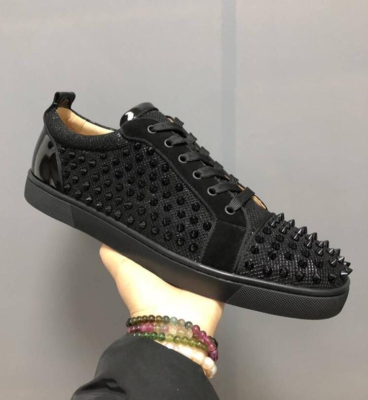 773dd9d31369 Famous Brand new Low Cut Suede Spiked Toe Casual Flats Rivets Luxury Shoes  For Men and