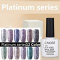1pcs Women Gel Nail Polish 10ml UV Color Gel Bright Platinum Series Gel Polish Varnishes Vernis Semi Permanent Gel Polish DIY