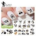 2016 Wechat Emoji Kung fu Panda Diseño Etiquetas Engomadas Del Clavo de Transferencia de Agua Nail Art Stickers Decal Para Nail Art Decoraciones QJ-3D858