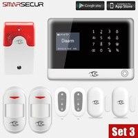 Smarsecur Wireless Alarm system APP Remote Control security systems Burglar Alarm
