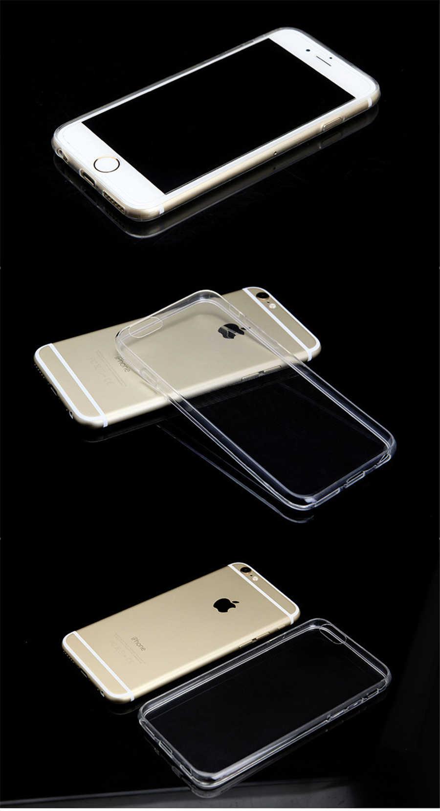 2018 Fashion Atasan Baru Transparan Lembut TPU Silicone Sangat Tipis Penutup Ponsel untuk iPhone 8 7 5 5 S SE 6 6 S Plus X S R Max