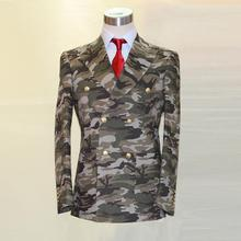 army color camouflage cotton man's fashion designer suit,double breast 3 patch pocket , tailor made man's MTM suit free shipping