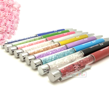 NEW cute diamond pen with metal Flat head to custom free your name/email/art special for birthday party 300pcs a lot